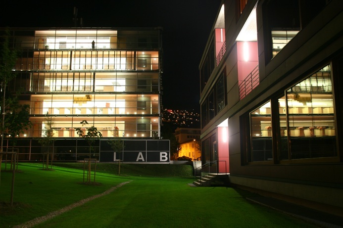 University of Lugano laboratory at midnight